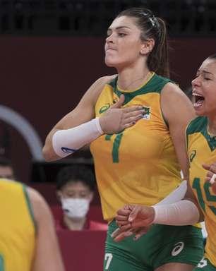 Vôlei: Seleção feminina vence Coreia e decide ouro com EUA