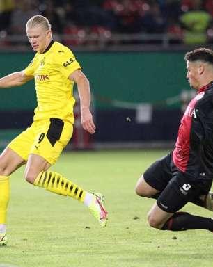 Borussia Dortmund vence time da terceira divisão com hat-trick de Haaland pela Copa da Alemanha