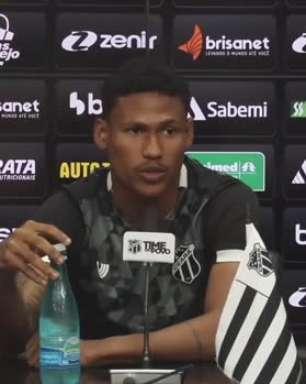 """CEARÁ: Rick lamenta fim de sequência de jogos sem perder e já projeta duelo com Flamengo: """"Vai ser um jogo difícil para os dois lados"""""""