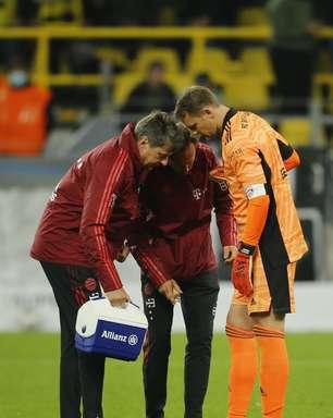Neuer fica fora de treino do Bayern por lesão no tornozelo