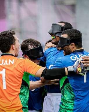 Brasil vence a China em estreia no futebol de 5 nas Paralimpíadas