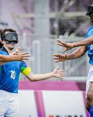 Brasil goleia o Japão e se classifica para as semifinais do futebol de 5 nos Jogos Paralímpicos