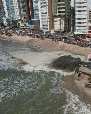 Tubarões 'invadem' Camboriú após obras na faixa de areia