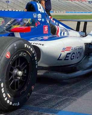 """Johnson faz primeiro teste com carro da Indy em circuito oval: """"É mais rápido e sensível"""""""