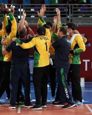 Brasil goleia Lituânia e disputará o ouro no goalball masculino; seleção feminina perde e buscará o bronze