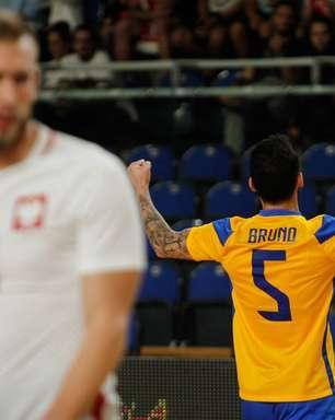 Em preparação para o Mundial de futsal, Brasil vence Polônia por 4 a 1