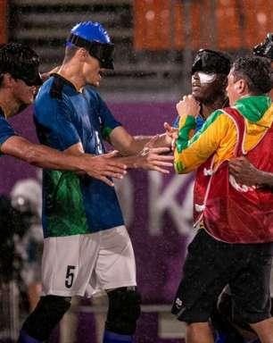 Brasil supera a chuva, vence Marrocos e está na final do futebol de cinco nas Paralimpíadas de Tóquio