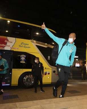 Seleção Brasileira chega a Santiago para enfrentar o Chile
