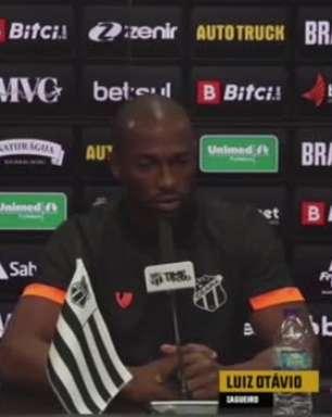 """CEARÁ: Luiz Otávio vê como positivo período de 10 dias sem jogos: """"Melhor pra entender o método de trabalho do novo treinador"""""""