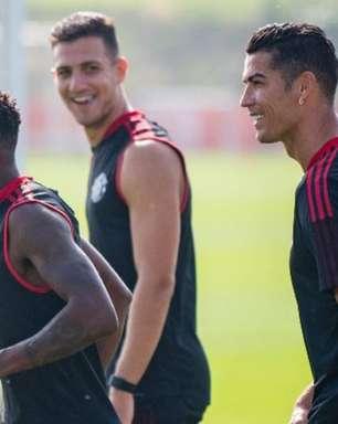 Cristiano Ronaldo faz primeiro treino no Manchester United