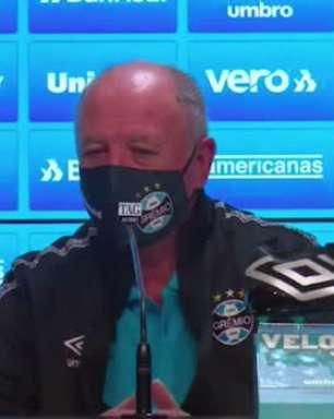 """GRÊMIO: Felipão diz que time entrará em campo contra o Flamengo ao comentar sobre polêmica com torcida no Maracanã: """"nossa parte vamos fazer"""""""