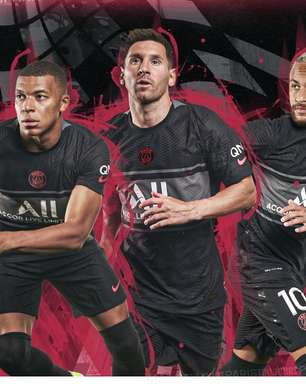 Com Messi e Neymar, PSG lança seu 3º uniforme para temporada