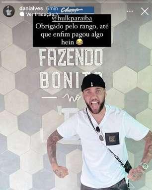 Na Paraíba, Daniel Alves manda mensagem para Hulk