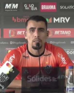 """ATLÉTICO-MG: Junior Alonso exalta qualidades de Hulk: """"Quando ele tem a oportunidade de fazer gol, ele faz"""""""