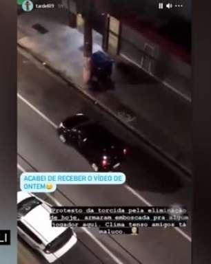 SANTOS: Após relato na rede social, Tardelli divulga imagens de emboscada feita por torcedores