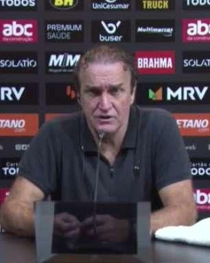 """ATLÉTICO-MG: Cuca destaca pontos positivos da vitória sobre o Fluminense pela Copa do Brasil: """"Dá pra tirar muita coisa boa"""""""