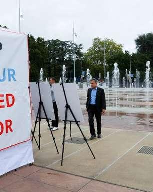 """""""Muro dos Desaparecidos"""": exibição sobre uigures estreia em Genebra com apoio dos EUA"""