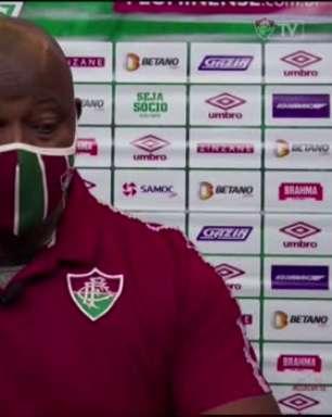 """FLUMINENSE: Marcão avalia derrota para o Atlético-MG: """"Tentamos de tudo"""""""