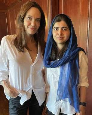 """""""Estou orgulhosa da minha amiga"""", diz Malala sobre Jolie"""