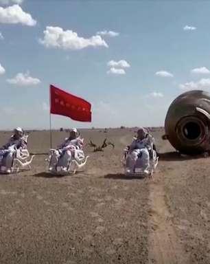 Astronautas chineses voltam de missão de 90 dias em estação espacial