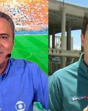 Web reage a 'desespero' de repórter da Globo para avisar Luís Roberto sobre gafe; veja a repercussão
