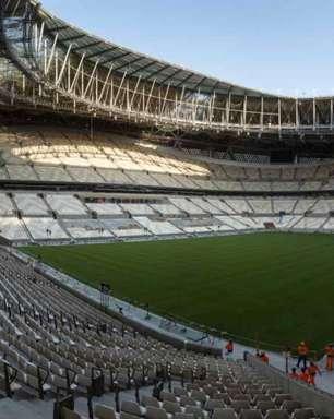 Estádio Lusail, sede da final da Copa do Mundo do Qatar, está a ponto de ser concluído