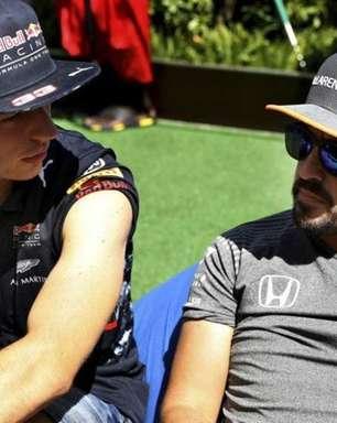 """Alonso revela que """"não ficaria feliz"""" se tivesse de competir contra Verstappen na Red Bull"""