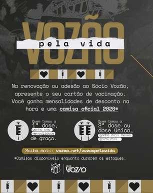 Ceará: mensalidades gratuitas para estimular vacinação