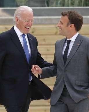 Biden e Macron aliviam tensão após crise de submarinos