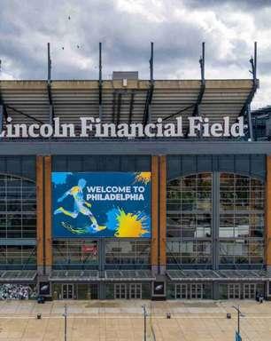 Estádio do Philadelphia Eagles recebe visita de dirigentes da FIFA