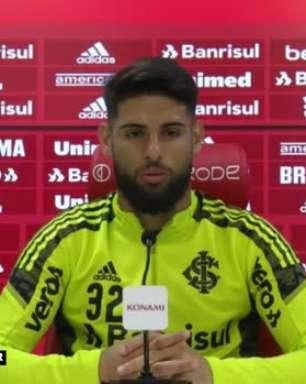 """INTERNACIONAL: """"Não estou no meu auge, mas vivo um bom momento"""", analisa Yuri Alberto sobre a sua temporada com a camisa colorada"""