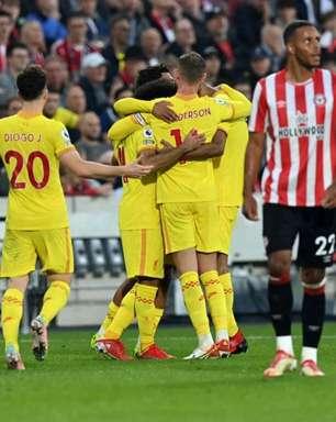 Empate de seis gols entre Liverpool e Brentford encanta internautas: 'Pena que acabou'