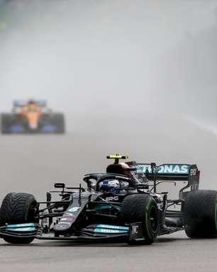 """Bottas lamenta demora em troca para pneus slicks e 7º no grid na Rússia: """"Não é o ideal"""""""