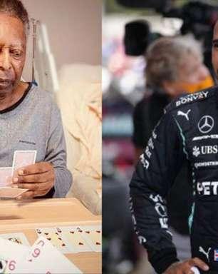 Pelé enche a bola de Lewis Hamilton após vitória histórica na F1: '100 vezes incrível'