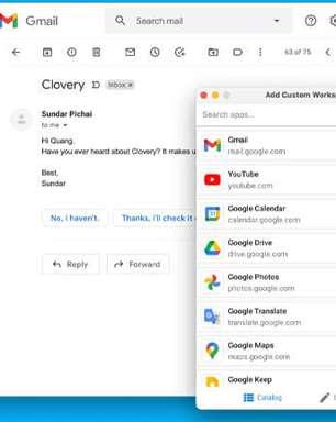Junte todos seus serviços do Google em um único app