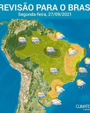 Segunda-feira quente e com pancadas de chuva no BR