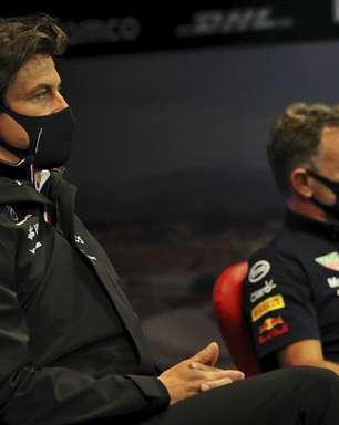 """""""Quanto mais Wolff fica nervoso, mais divertido"""", diz Horner sobre disputa com a Mercedes na F1"""