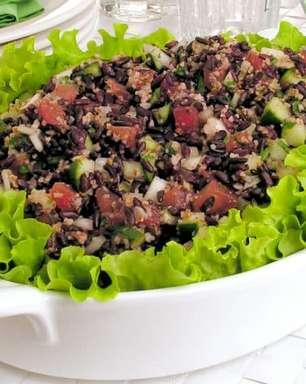 Tabule de arroz preto: pronto em 10 minutos