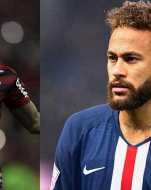 VÍDEO: Neymar chega para PSG x City na Champions ouvindo a música de Lil Gabi, o Gabigol
