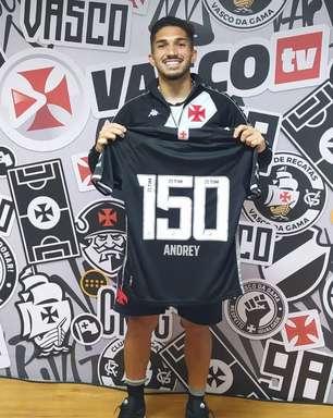 """Andrey celebra marca de 150 jogos pelo Vasco: """"Sou muito grato ao clube"""""""