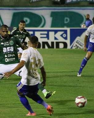 Cruzeiro empata com o Guarani por 1 a 1 e vê Z4 ficar perto
