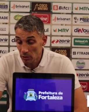 """FORTALEZA: """"Perdemos por erros pontuais"""", avalia Vojvoda após derrota para o Atlético-GO"""