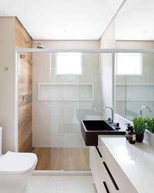 Nicho de Porcelanato: +57 Ideias Incríveis para seu Banheiro
