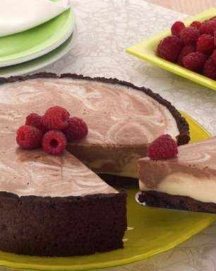 Cheesecake mesclado: uma sobremesa digna de um confeiteiro