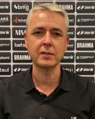 """CEARÁ: Tiago Nunes destaca superioridade da equipe no empate contra o Inter e lamenta: """"Nos faltou o gol"""""""