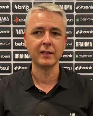 """CEARÁ: Tiago Nunes elogia equipe e avalia empate contra o Internacional: """"Fizemos por merecer a vitória"""""""