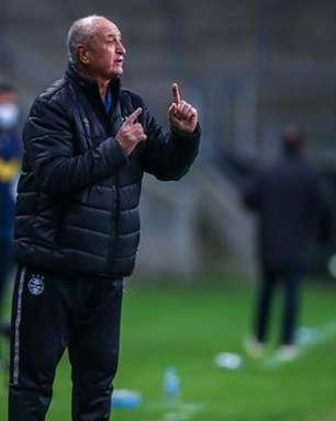 Parabéns? Felipão elogia Grêmio após empate com Cuiabá na Arena