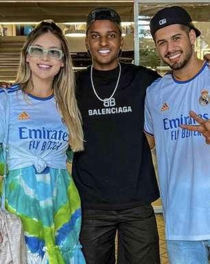 Rodrygo leva cantor Zé Felipe e influenciadora Virginia Fonseca para tour no Santiago Bernabéu
