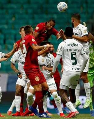 Sem vencer a cinco jogos no BR, Palmeiras empata com o Bahia