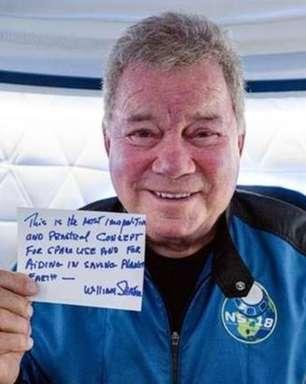 William Shatner torna-se pessoa mais velha a ir ao espaço